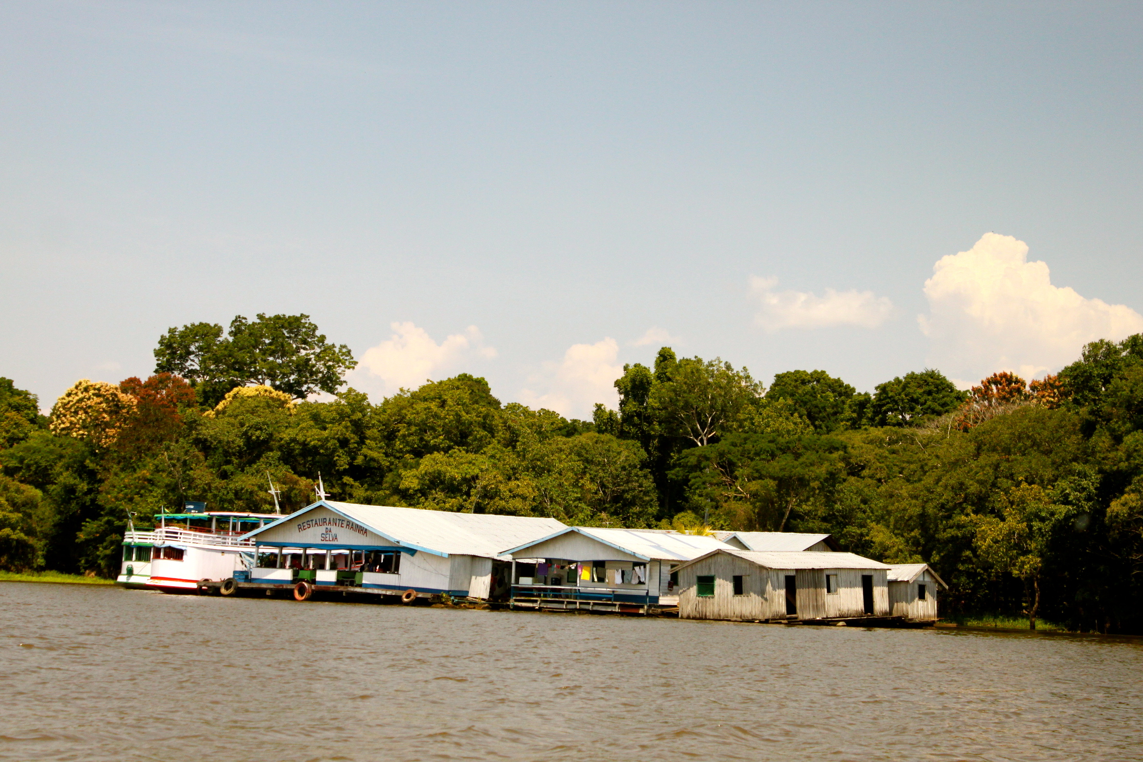 Floating houses of the Amazon