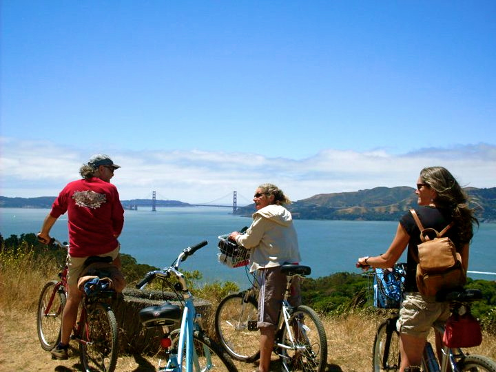 Biking Angel Island