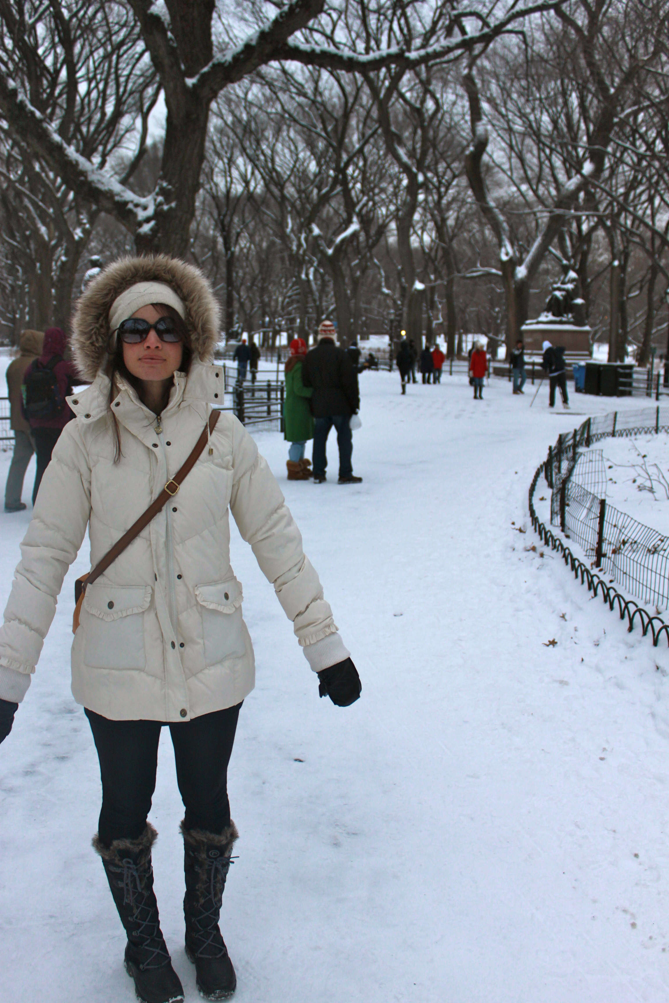 """My awkward, lost expression in this picture cracks me up. """"What is all this white stuff?  Why is it so cold??"""""""