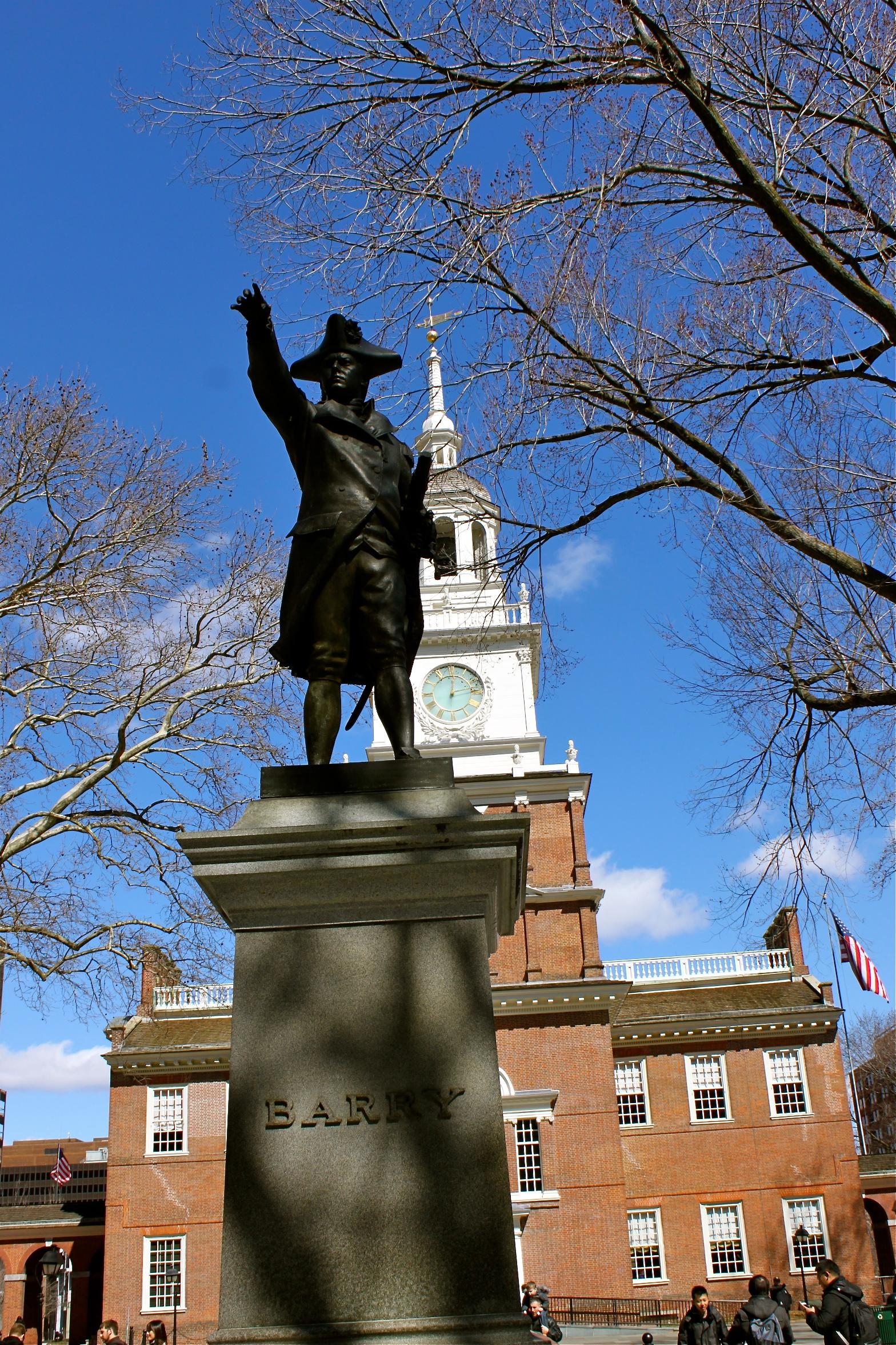 barry statue independence hall philadelphia