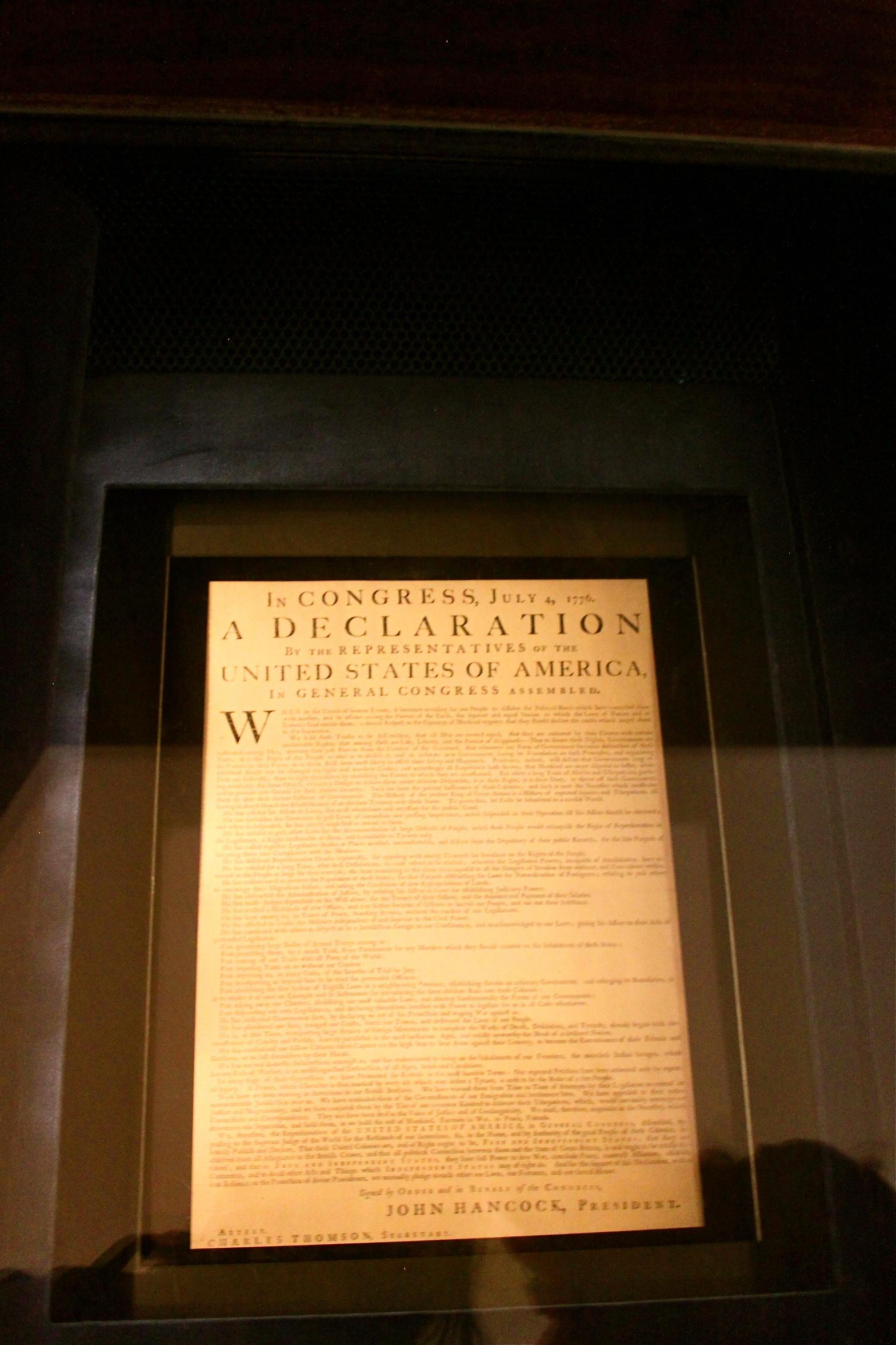 Declaration of Independence Philadelphia Pennsylvania