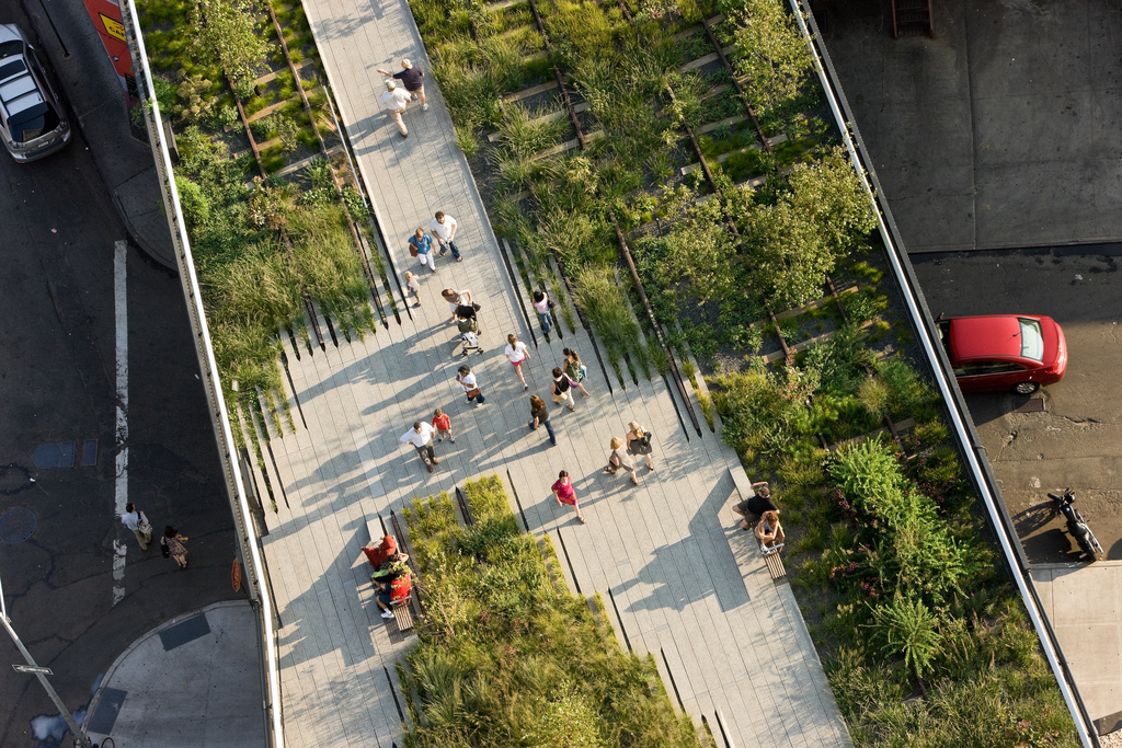 I love this aerial view of The High Line, courtesy of the park's conservancy.