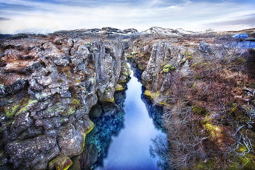 You can actually dive that body of water in between the two continental plates.  (And yes, of course that's on the list... see below.)
