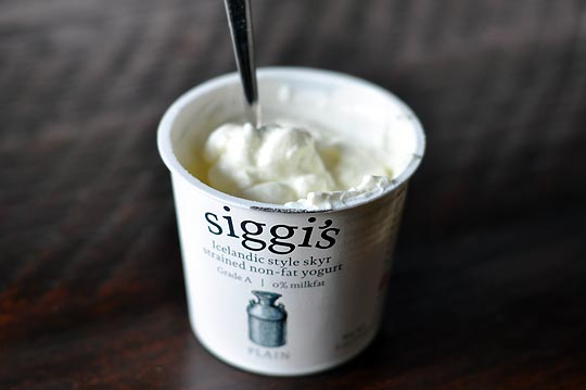 Siggi's, my favorite brand of skyr!  For the uninitiated, skyr can be a bit sour... it's not your usual, sugary yogurt.  Like everything else in Iceland, it's hardcore.