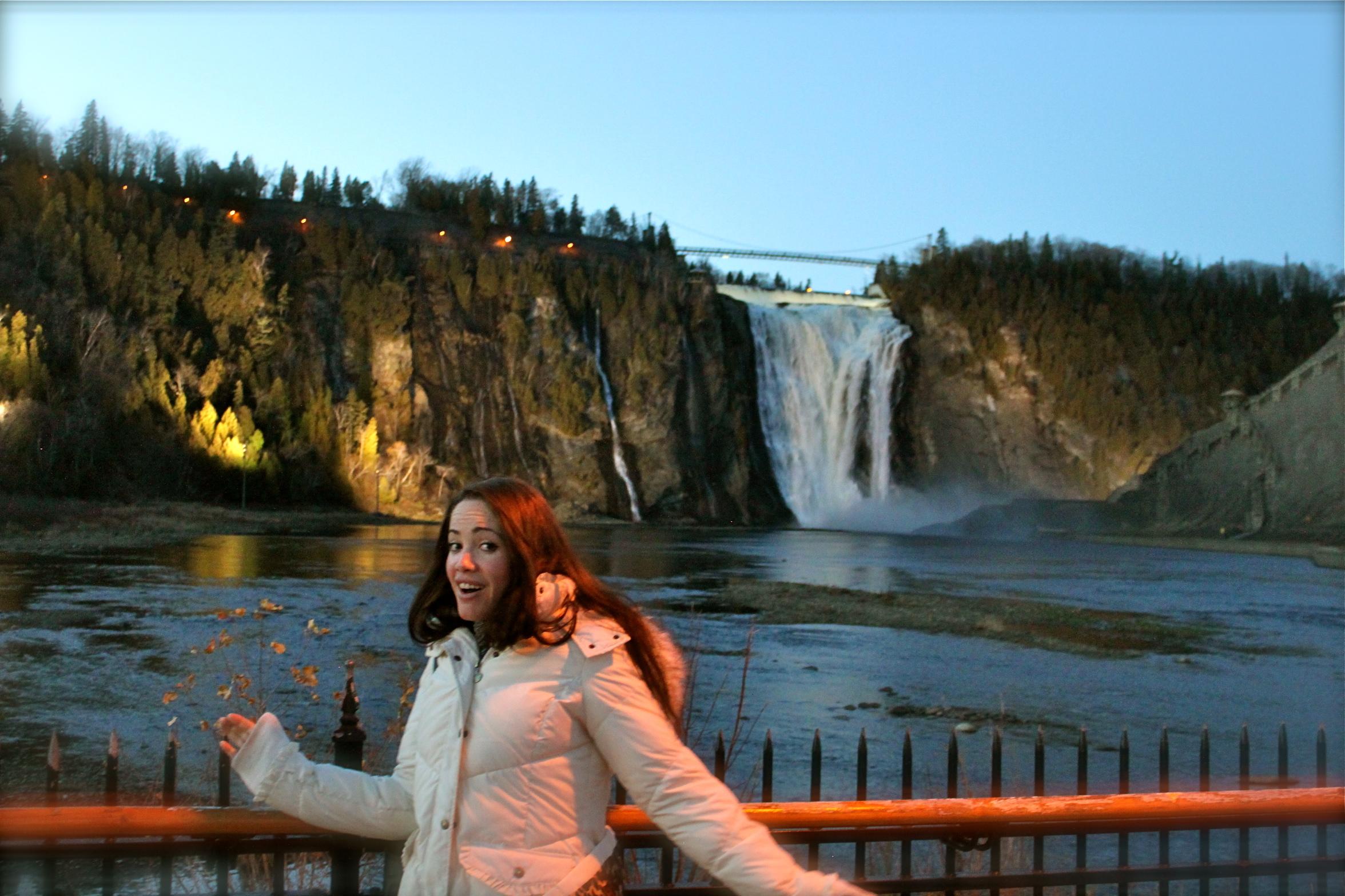 montmorency falls quebec city canada
