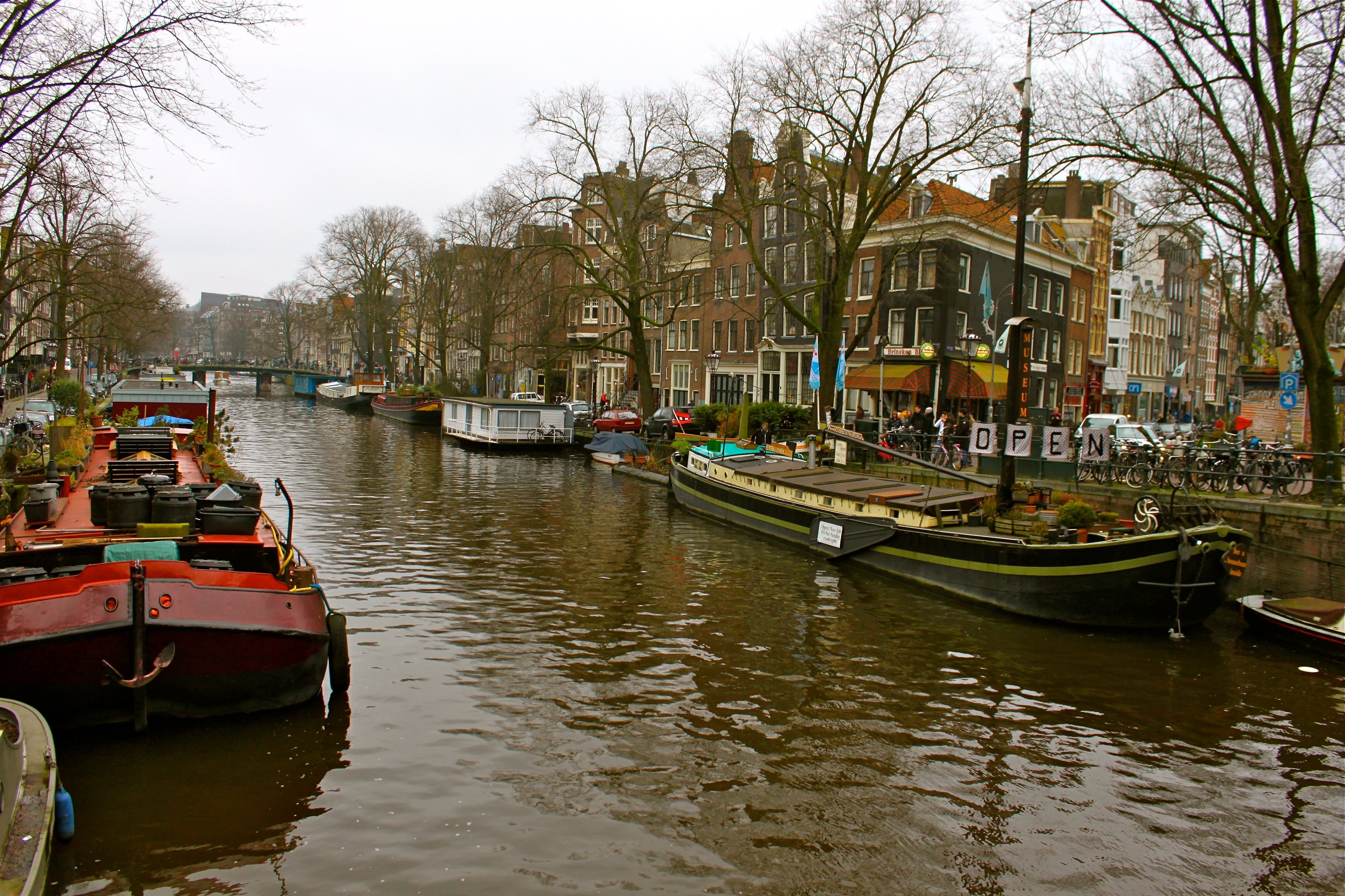 amsterdam canals netherlands houseboat