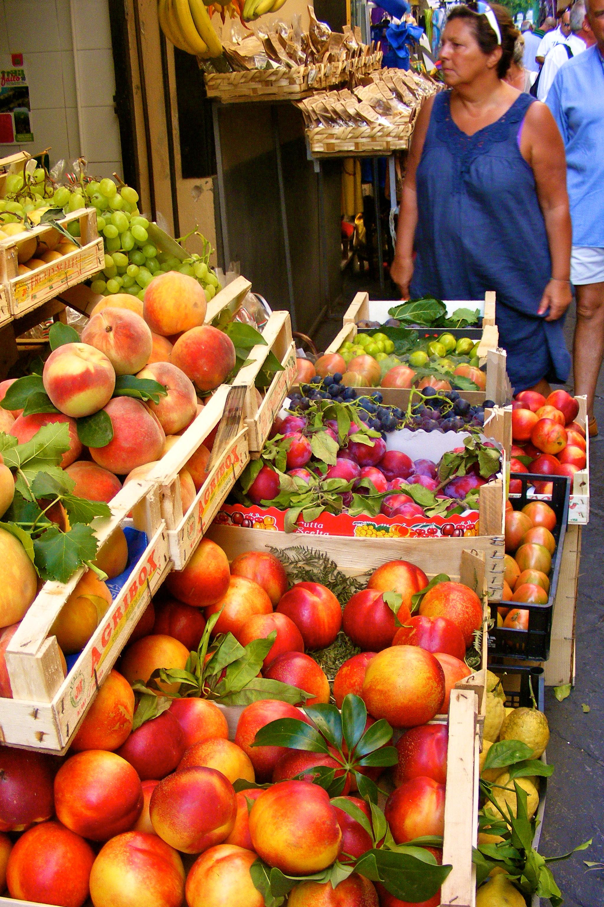 italy amalfi coast fruit stand