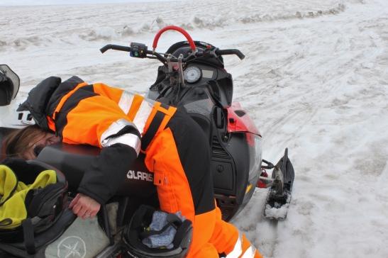 snowmobile langjokull glacier iceland