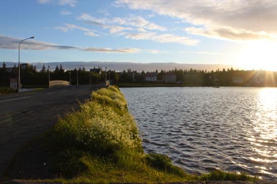 tjornin lake reykjavik iceland