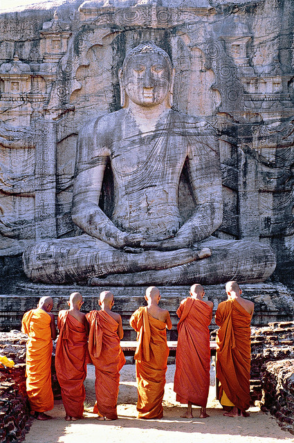 Monks visiting Polonnaruwa