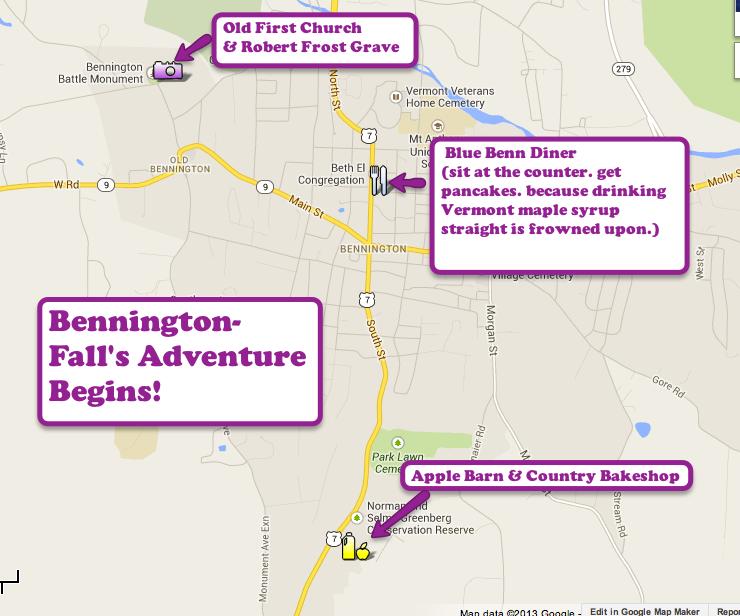 bennington vermont road trip