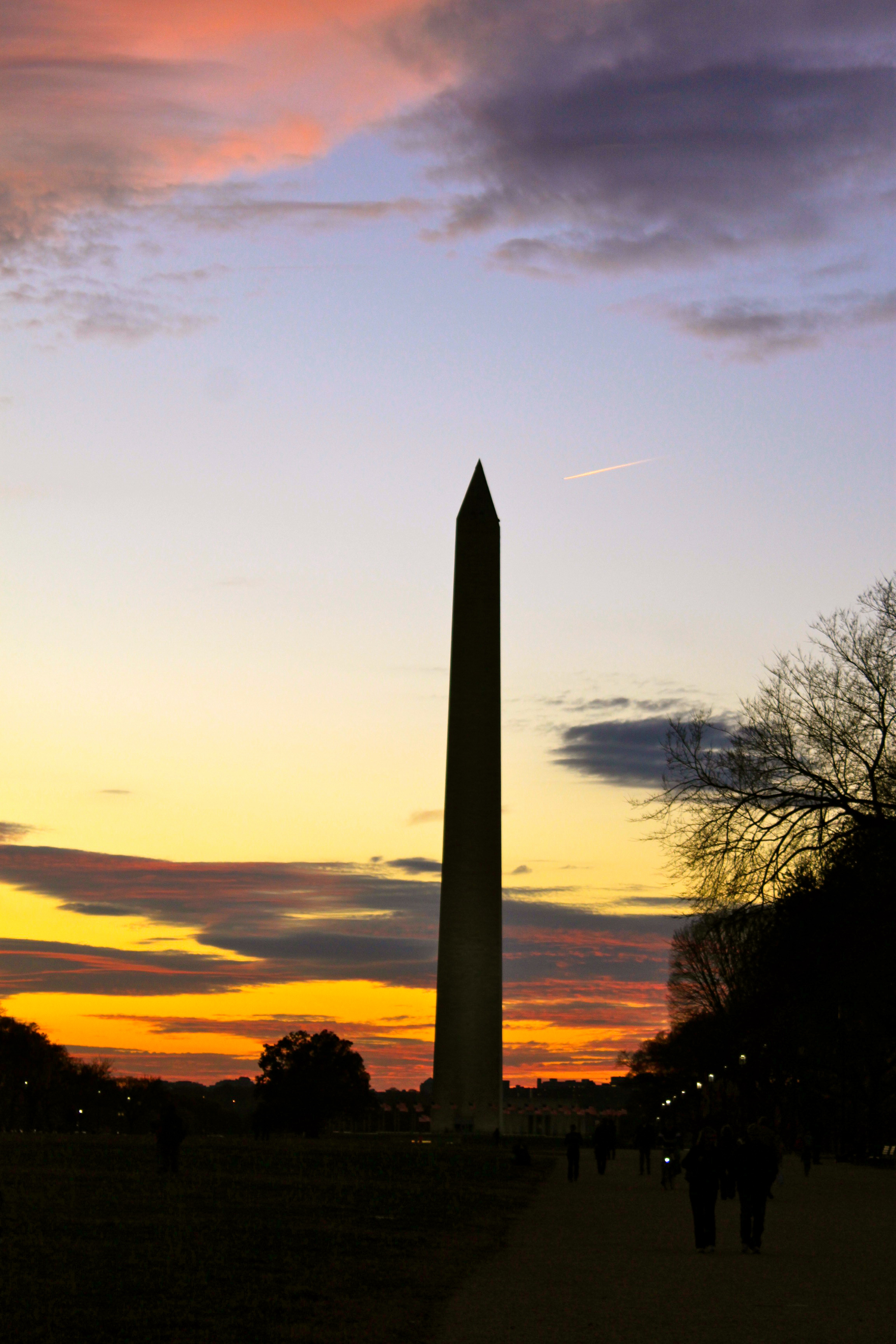 washington monument dc sunset